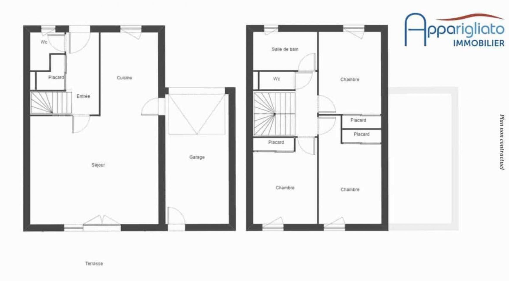 Plan maison t4 plan maison algerie gratuit with plan for Plan maison t4