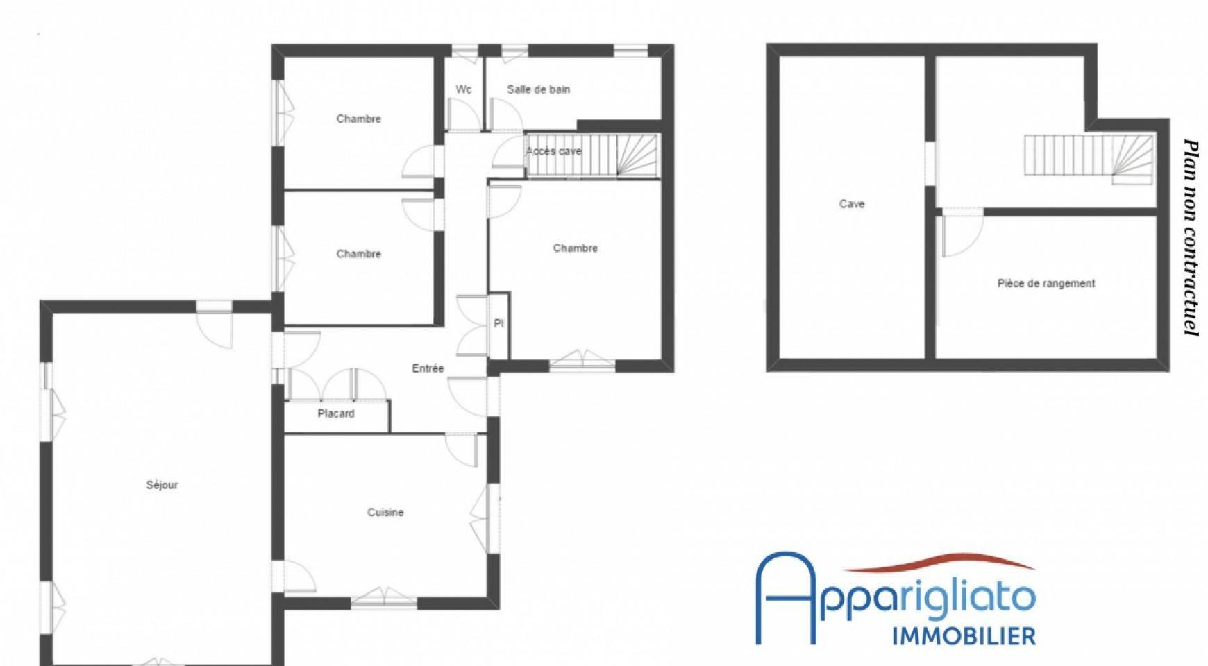 Plan maison t4 excellent maison en bois moderne c planca for Plan maison t4