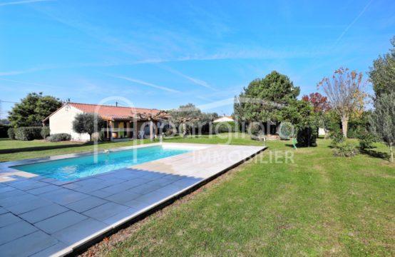 VENDU! EXCLUSIVITÉ MERVILLE Maison T5 Plain Pied + Garage indépendant de 40 m² et Piscine sur 2800 m²